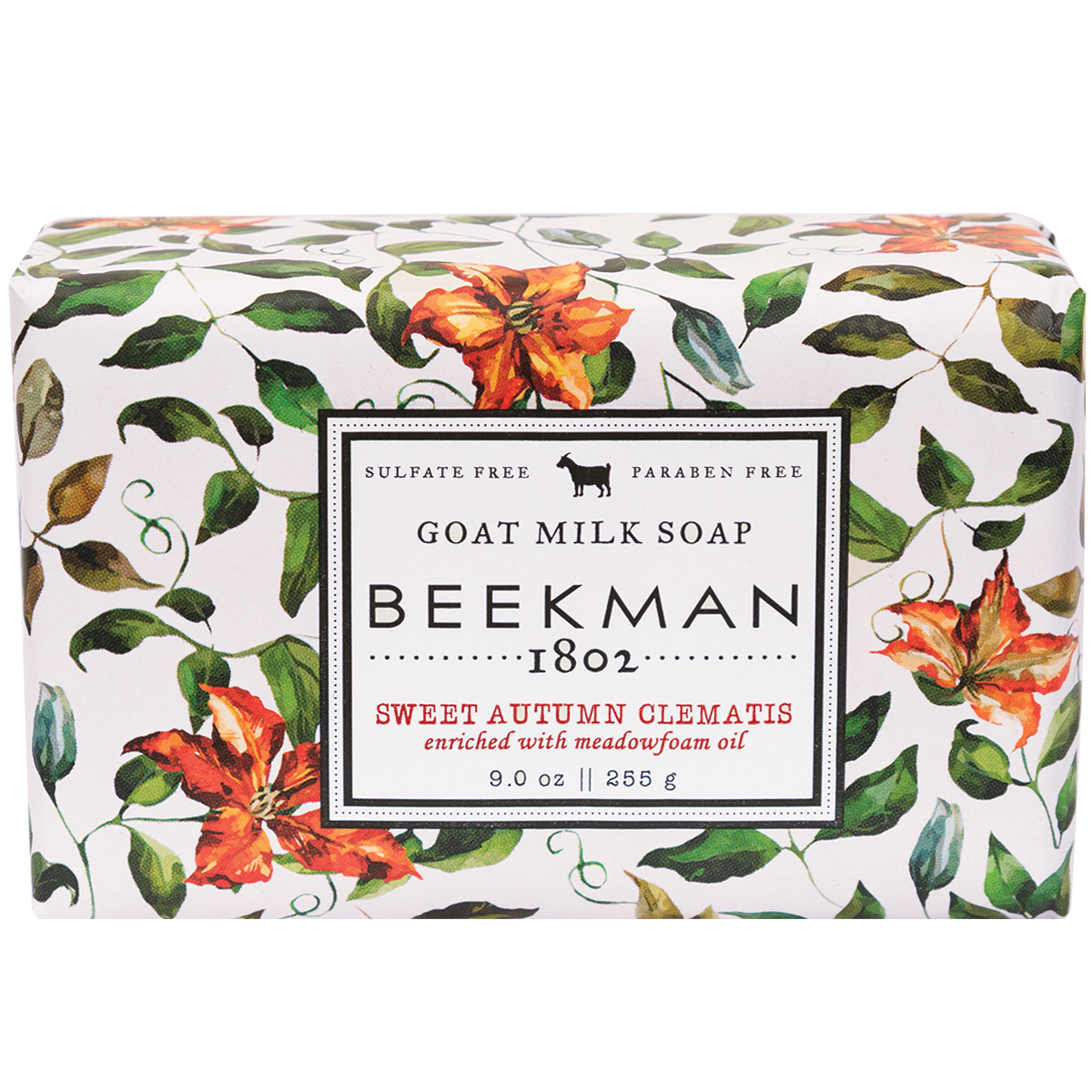 Sweet Autumn Clematis Goat Milk Bar Soap 9 oz